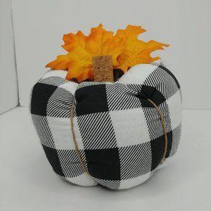 Stuffed Buffalo Plaid Fabric Pumpkin